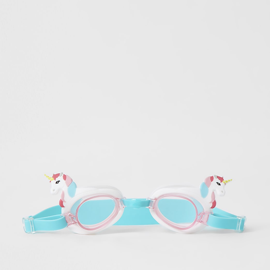 Girls pink unicorn goggles