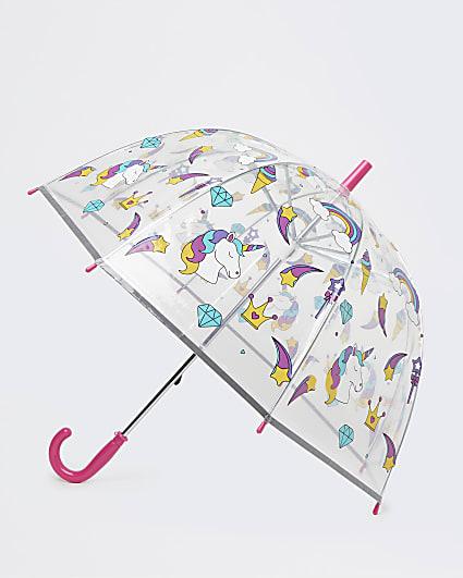 Girls pink unicorn umbrella