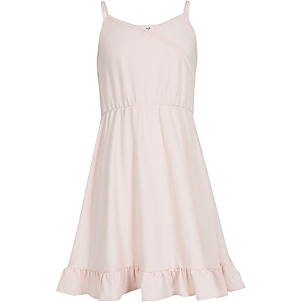 Girls pink wrap dress