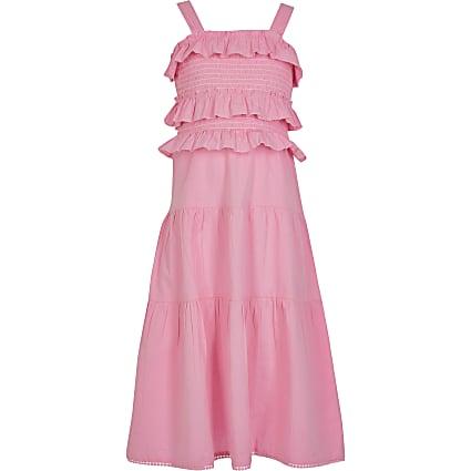 Girls pnk frill maxi dress