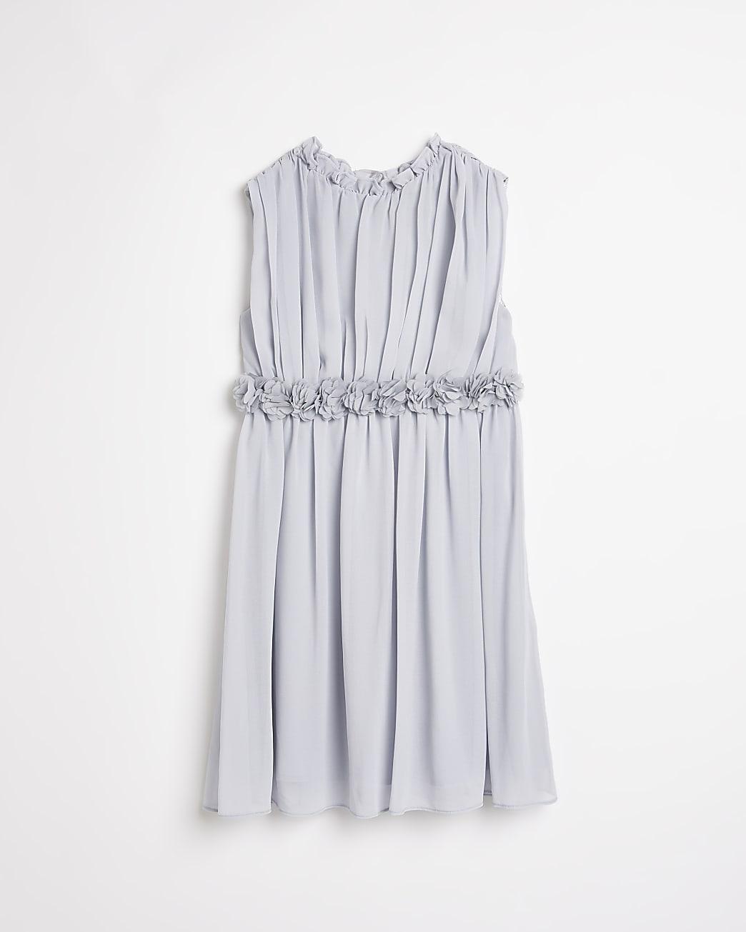 Girls purple Chi Chi floral dress