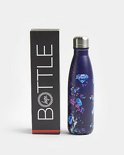 Girls purple Hype diamond print water bottle