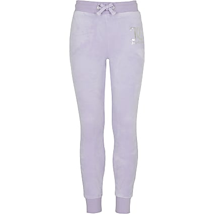Girls purple Juicy Couture velour joggers