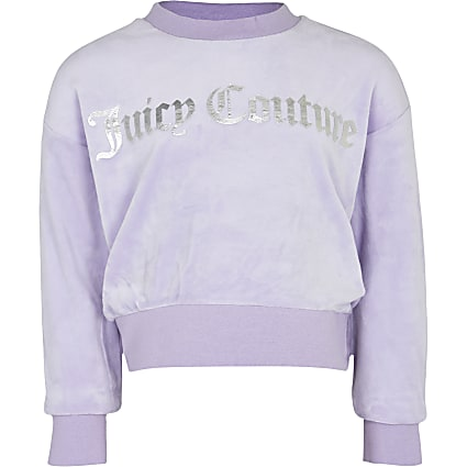 Girls purple Juicy Couture velour sweatshirt