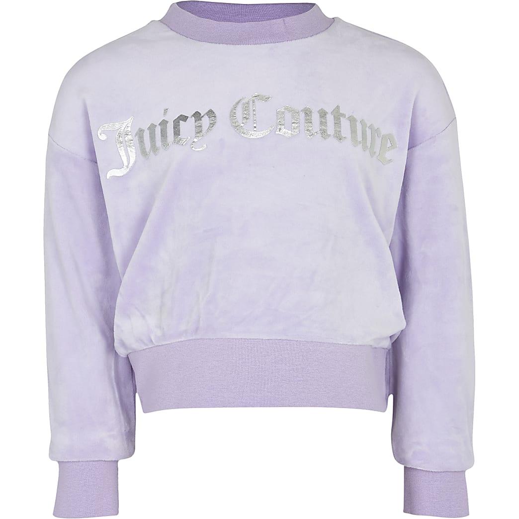 Girls purple Juicy Couture velour sweatshirt