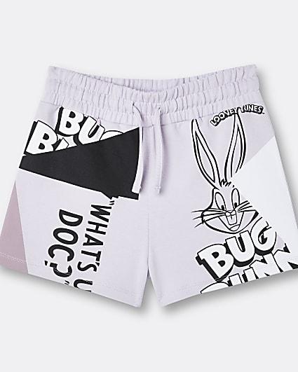 Girls purple Looney Tunes shorts