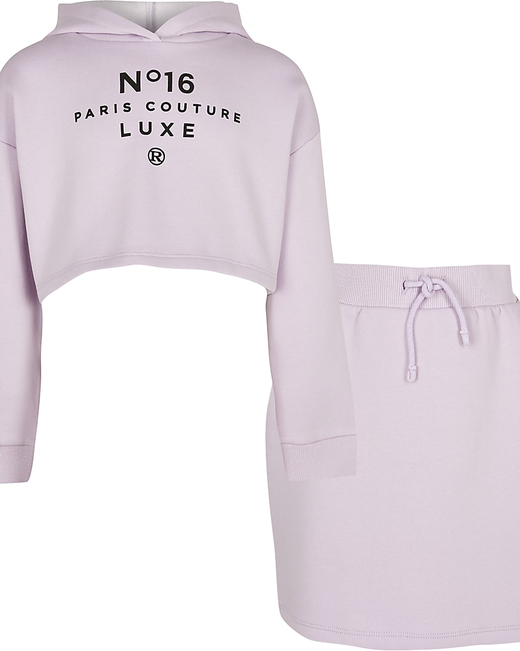 Girls purple 'Paris Couture' skirt outfit