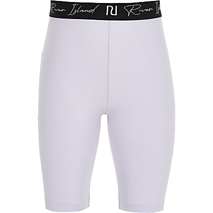 Girls purple RI waistband cycling short
