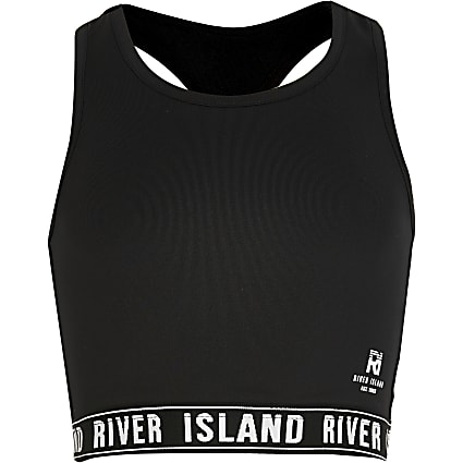 Girls RI Active black crop top