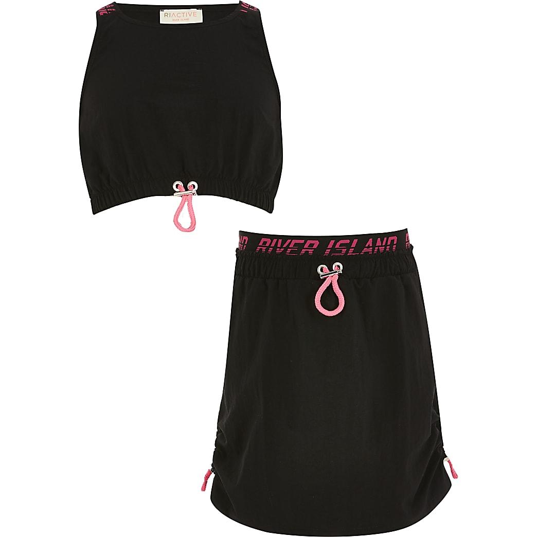 RI Active - Zwarte skort outfit voor meisjes