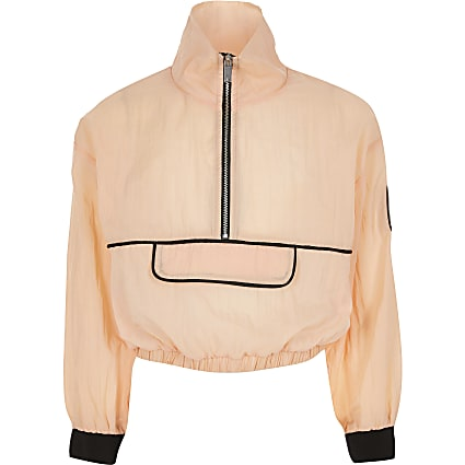 Girls RI Active orange half zip sweatshirt
