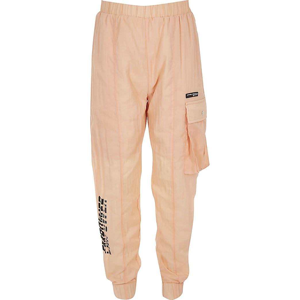 Girls RI Active orange nylon joggers