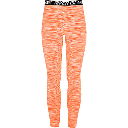 Girls RI Active orange RI leggings