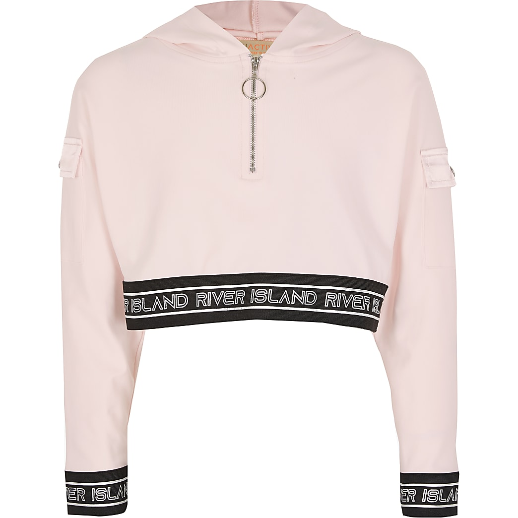Girls RI Active pink sweatshirt hoodie