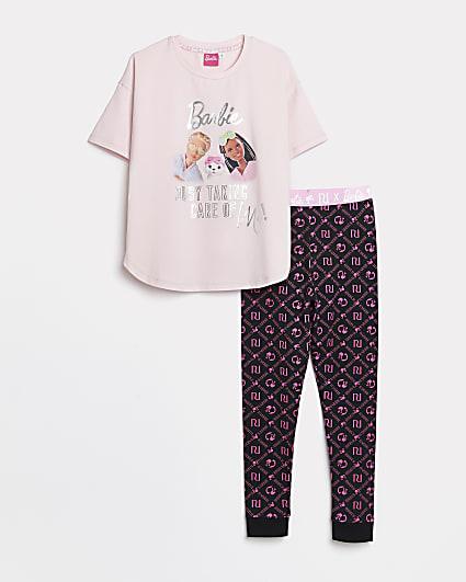 Girls RI x Barbie black pyjama set