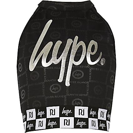 Girls RI x Hype black crop top