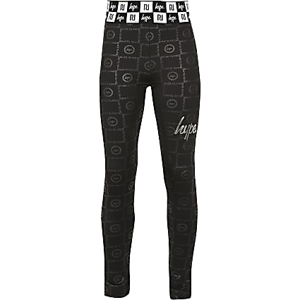 Girls RI x Hype black printed leggings