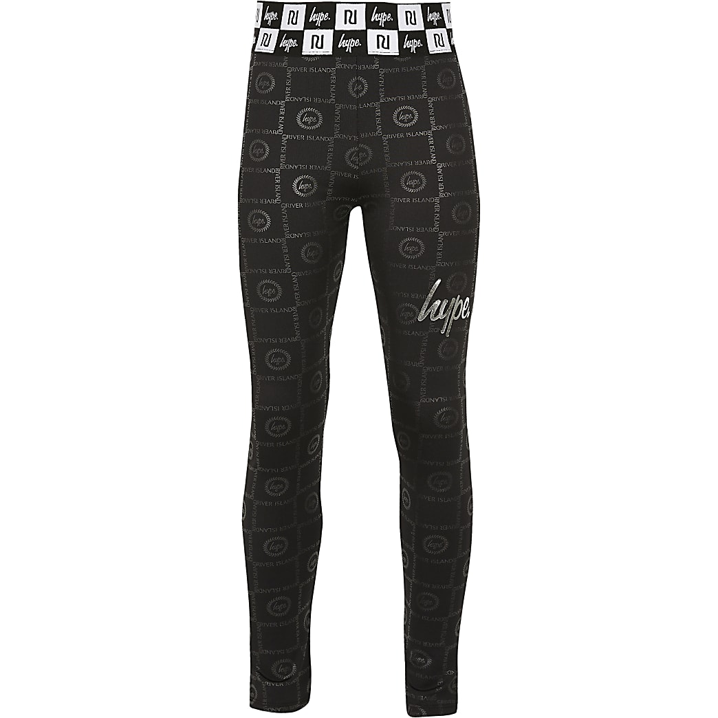 Girls RI x Hype black printed leggings