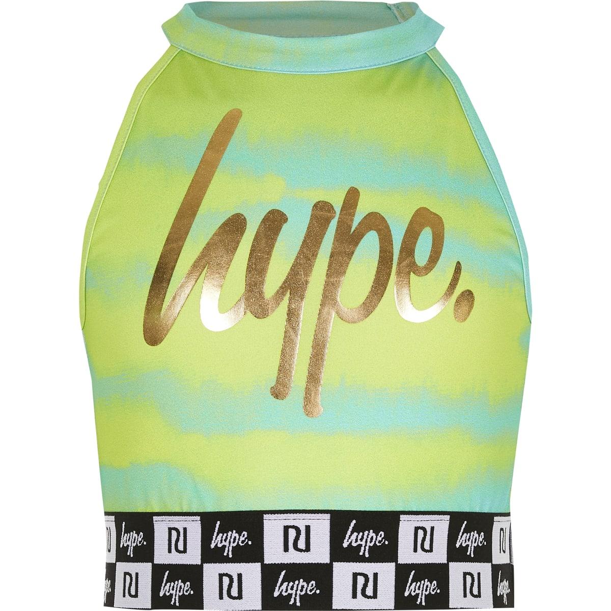 RI x Hype - Groene crop top met print voor meisjes
