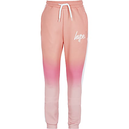 Girls RI x hype pink fade joggers