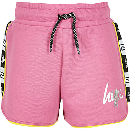Girls RI x Hype pink tape shorts