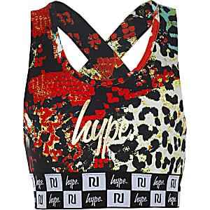 RI x Hype – Crop top imprimé serpent rouge pour fille