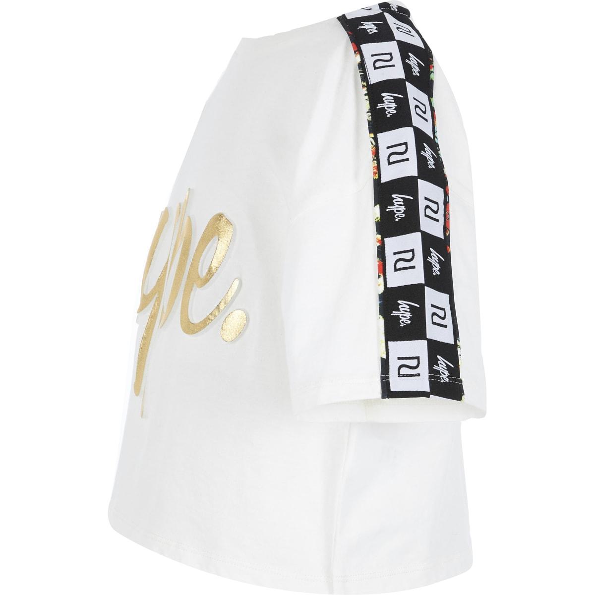 RI x Hype - Wit cropped T-shirtmet bies voor meisjes