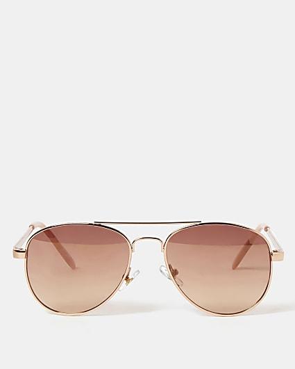 Girls rose gold colour aviator sunglasses