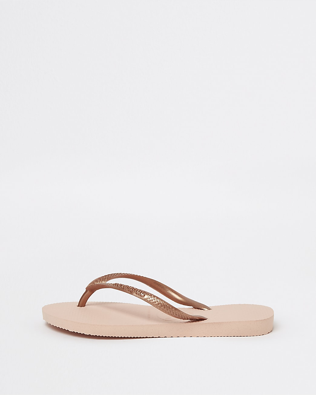 Girls rose gold Havaianas flip flops