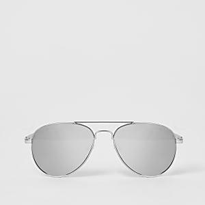 Verspiegelte Pilotensonnenbrille in Silber für Mädchen