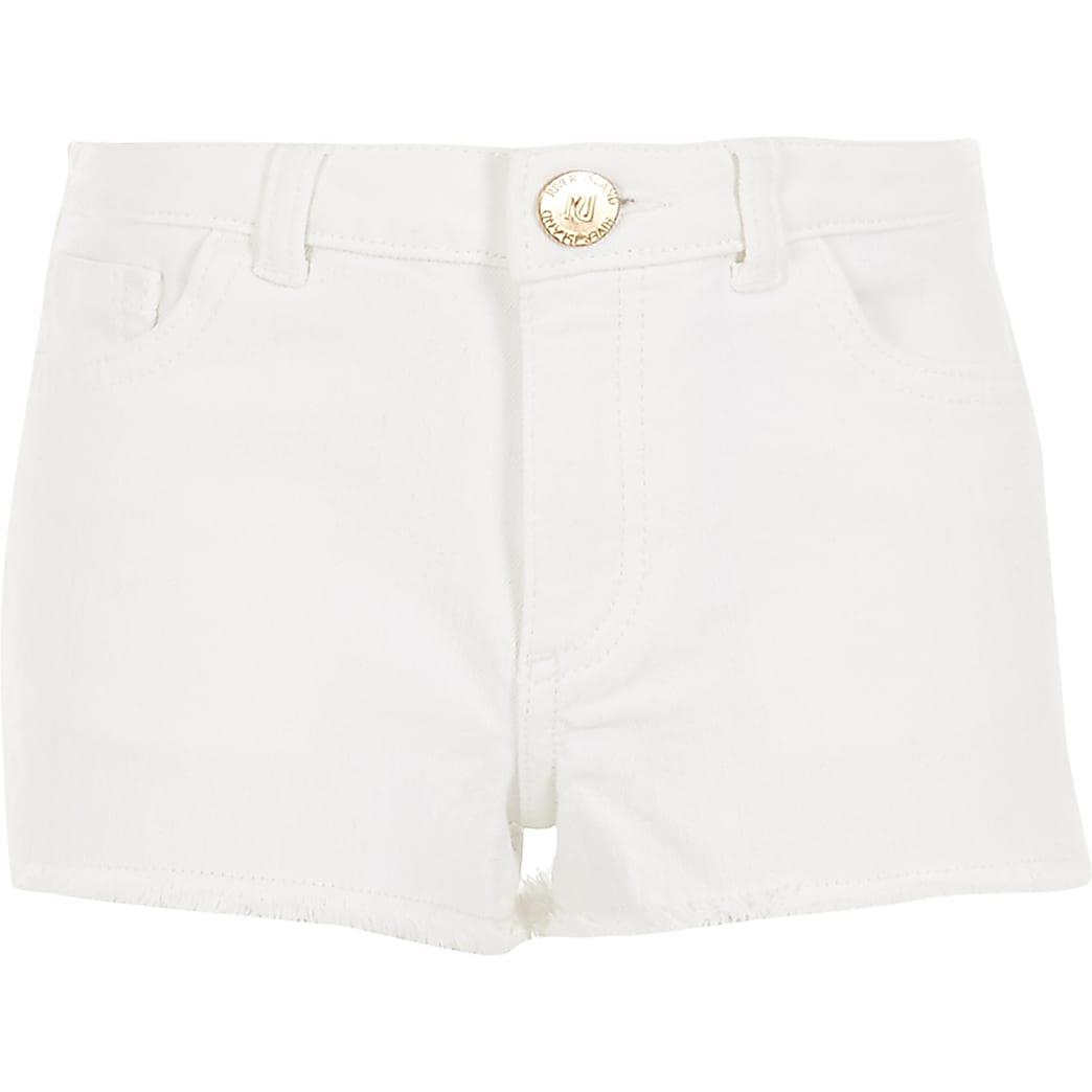 Becca - Witte relaxte short voor meisjes