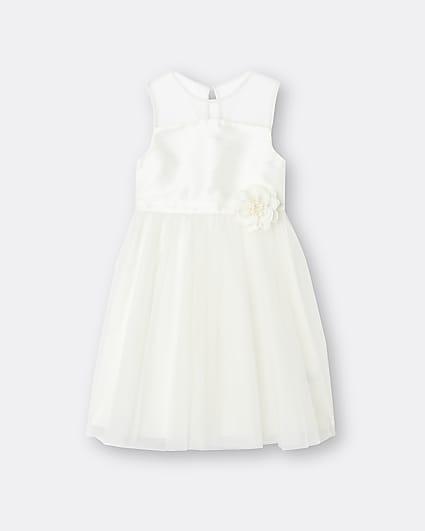 Girls white Chi Chi flower dress