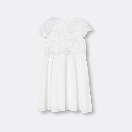 Girls white Chi Chi lace dress