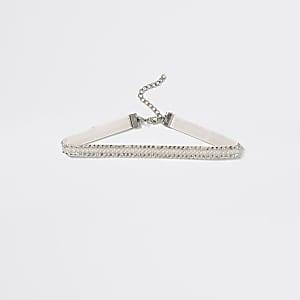 Choker-Halskette in Weiß mit Verzierung für Mädchen