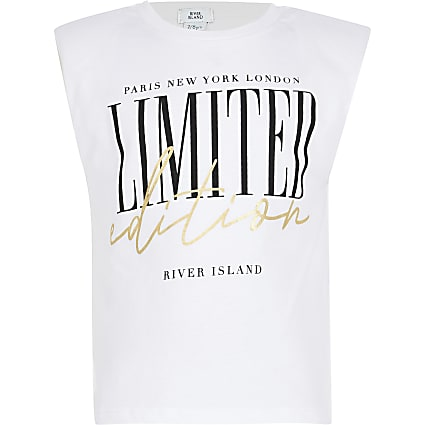 Girls white 'Limited edition' t-shirt