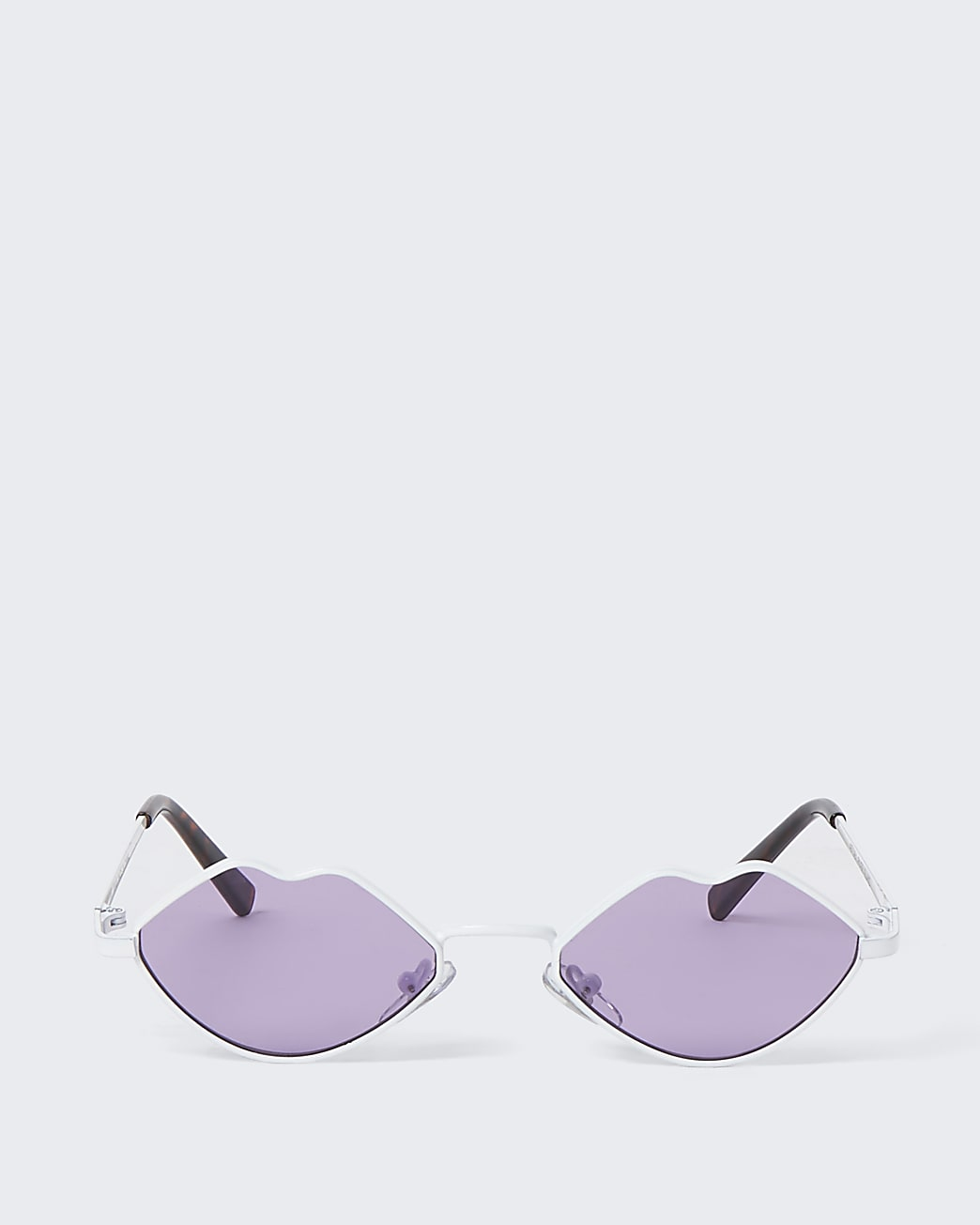 Girls white lips shape sunglasses