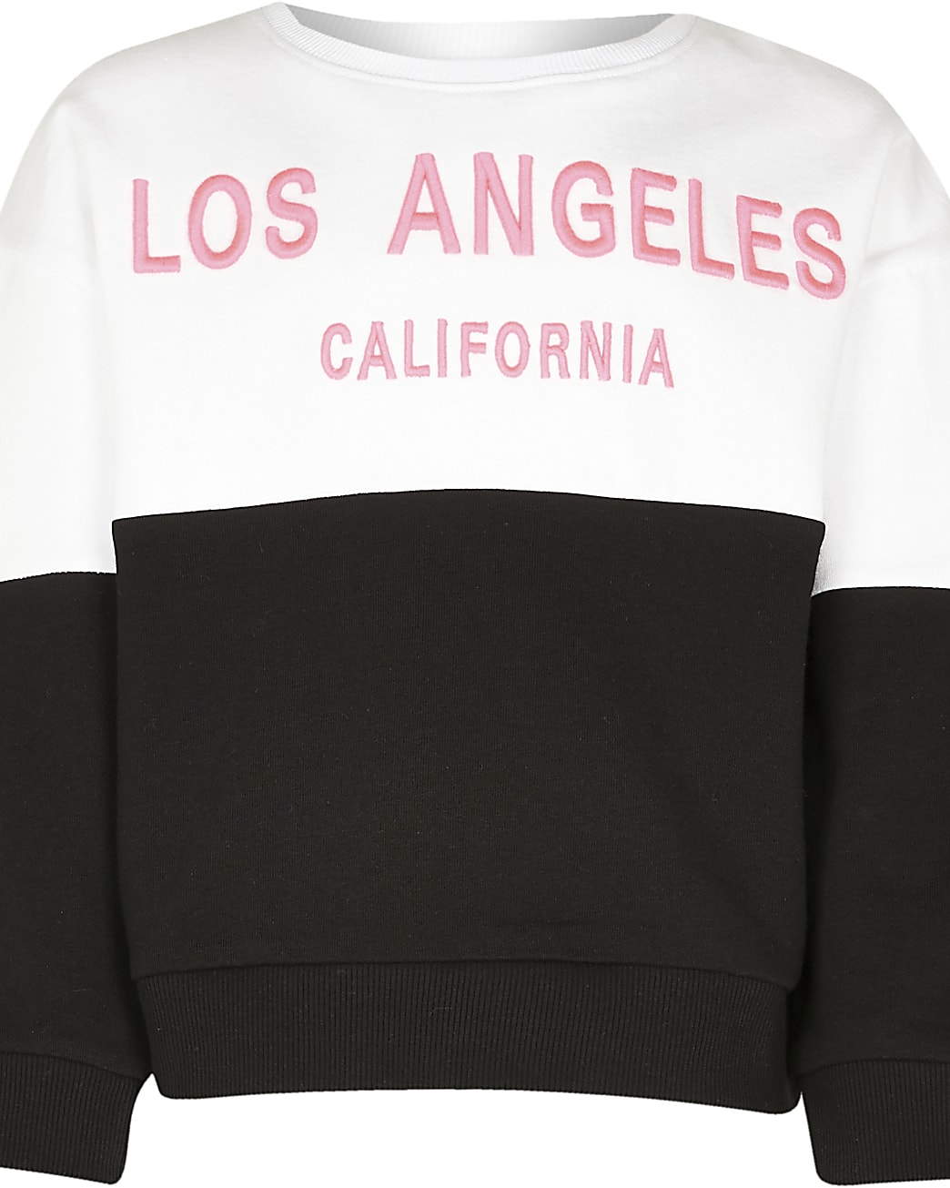 Girls white 'Los Angeles sweatshirt