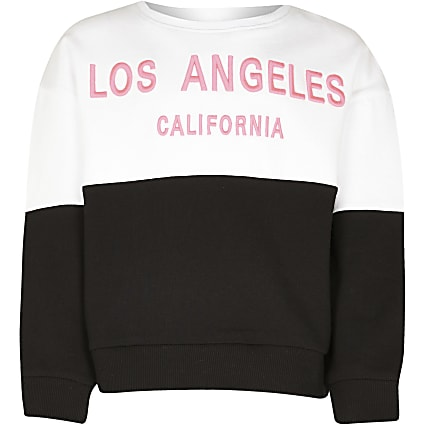 Girls white 'Los Angeles sweatshirt