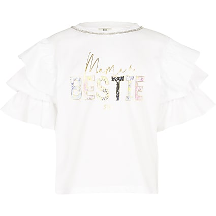 Girls white 'Mamas bestie t-shirt