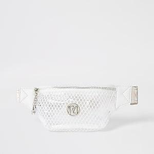 Wit mesh heuptasje met RI-embleem voor meisjes