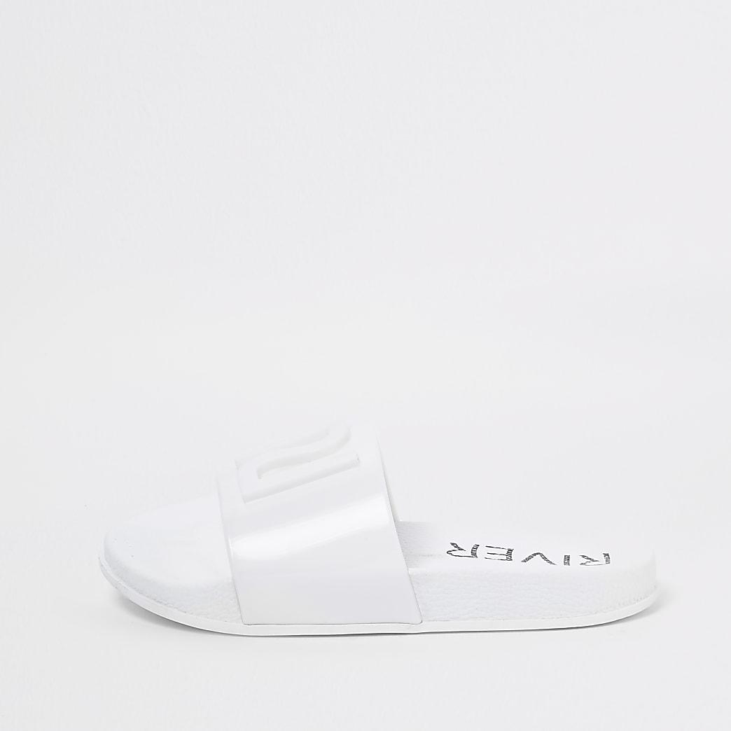 Witte badslippers met RI-logo voor meisjes