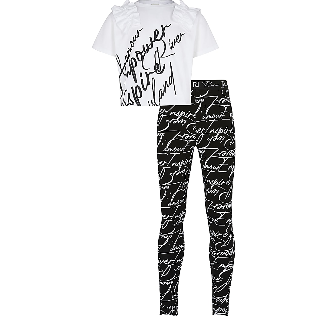 Girls white RI L'amour outfit