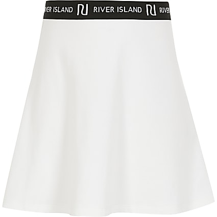 Girls white RI skirt