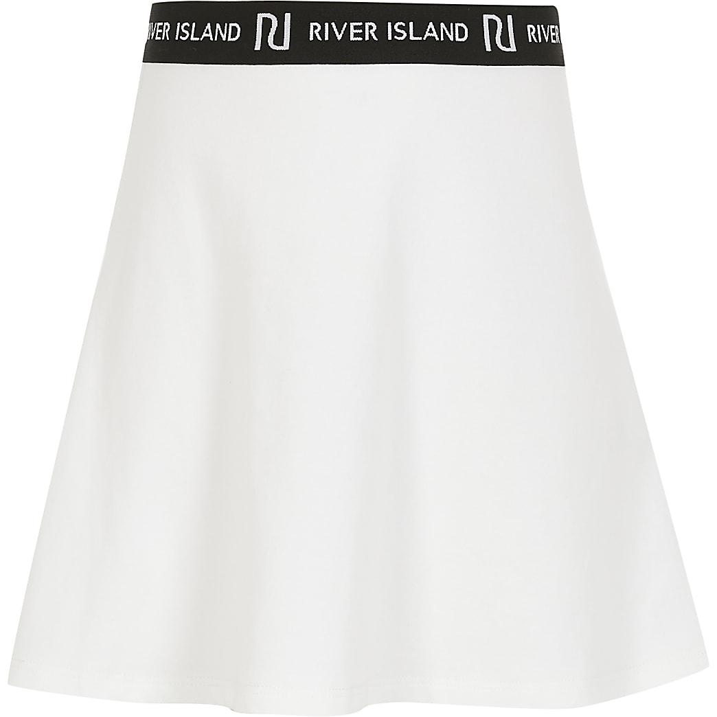 Girls white RI skirt