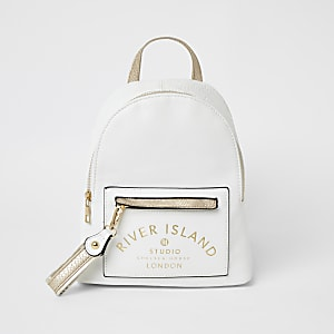 Girls white RI Studio backpack