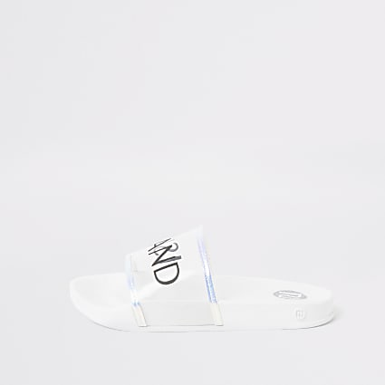 Girls white River Island perspex sandals