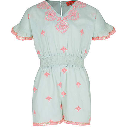 Girls white satin RI pyjama boxed set