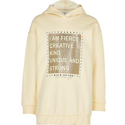 Girls yellow 'Fierce' sweatshirt