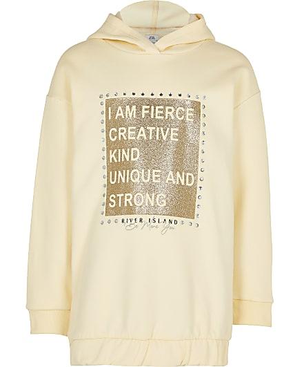 Girls yellow 'Fierce' sweatshirt