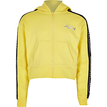 Girls yellow Juicy Couture hoodie